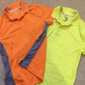 A lot of 2 Performance Polo Shirts Boys XL